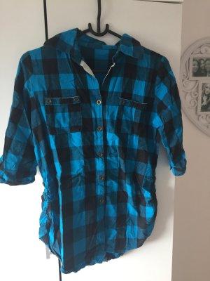 Blaues Karo Hemd    Größe M