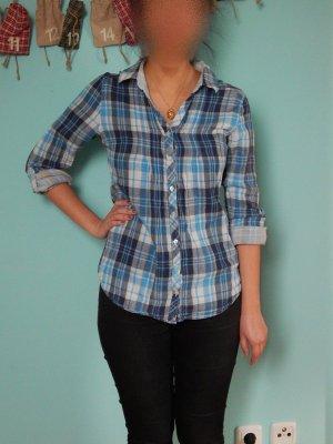 Blaues Karohemd/ Holzfällerhemd Damen