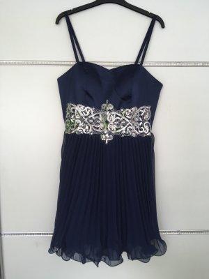 b.p.c. Bonprix Collection Cocktail Dress dark blue-silver-colored