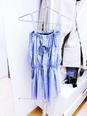 Mini-jurk korenblauw-azuur