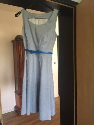 Blaues Kleid A-Linie, Gr. 36