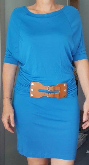 Blaues Kleid mit Gürtel von Marc Cain Gr. 36 (N2)