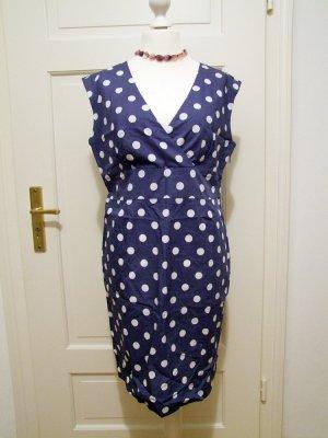 Blaues Kleid mit Punkten von Tom Joule