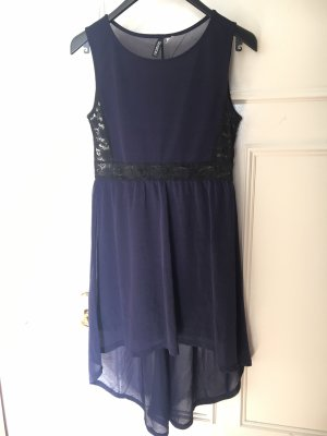 H&M Divided Jurk met langere achterkant zwart-donkerblauw