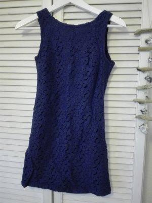 Blaues Kleid mit tollem Rückenausschnitt aus Spitze - Neu!