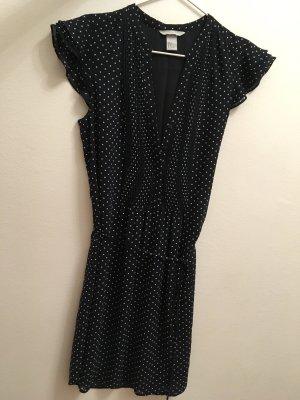 Blaues Kleid mit weißen Punkten, H&M, 38