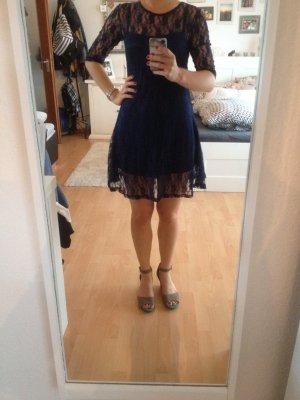 blaues Kleid, spitze, Größe 36
