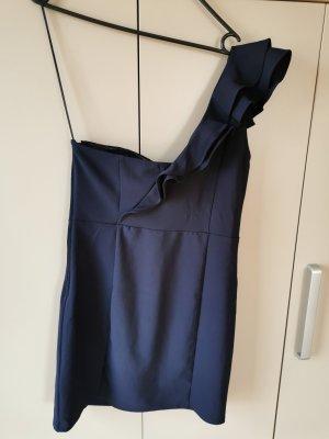 H&M Vestido de un hombro azul