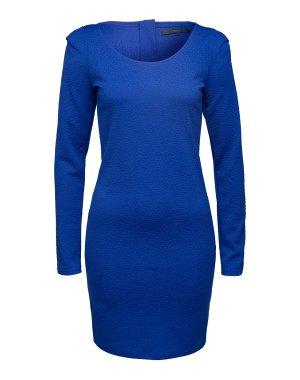 Blaues Kleid von Minimum aus edel strukturiertem Materialmix.