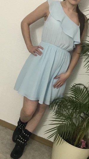 Zara Vestido a media pierna azul claro