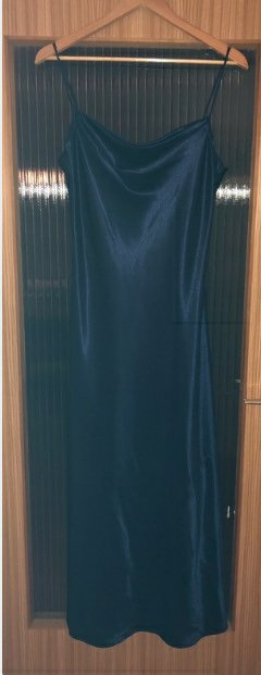 Blaues Kleid von Yessica bodenlang
