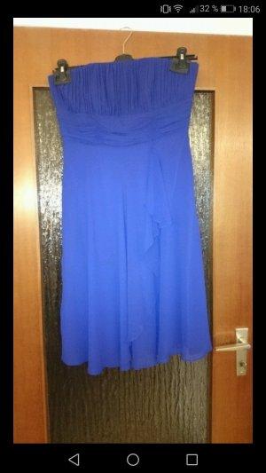 Blaues knielanges Kleid