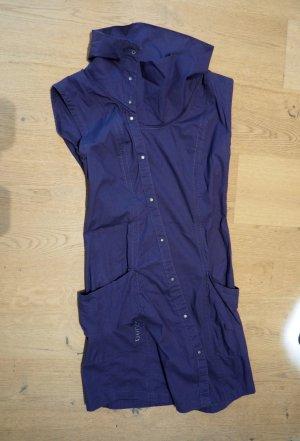 Blaues Kurzarmkleid, super mit Legin oder auch Jeans kombinierbar