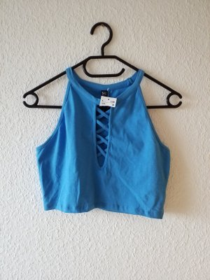 Cut Out Top neon blue