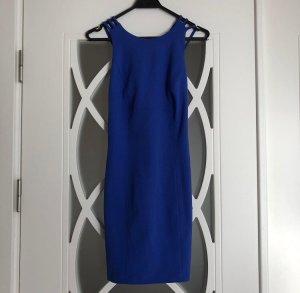 Blaues Kurzkleid mit Rückenausschnitt Partykleid Feiern