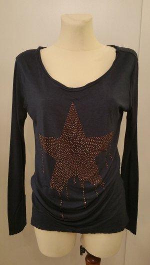 Oversized Shirt bronze-colored-blue mixture fibre