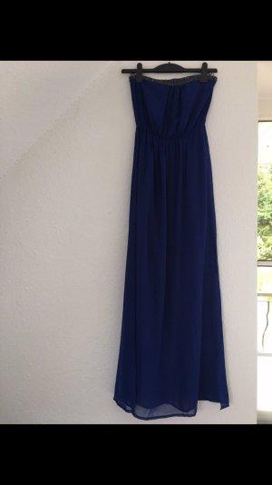 Zara blaues langes kleid