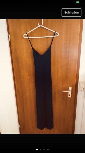 Blaues langes luftiges Kleid