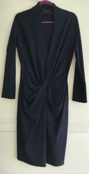 Blaues Lanvin Strickkleid aus dunkelblauer Wolle
