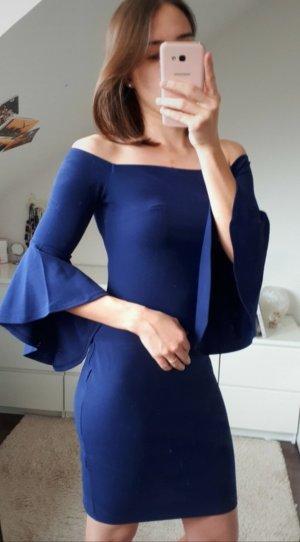 Lipsy Off the shoulder jurk blauw