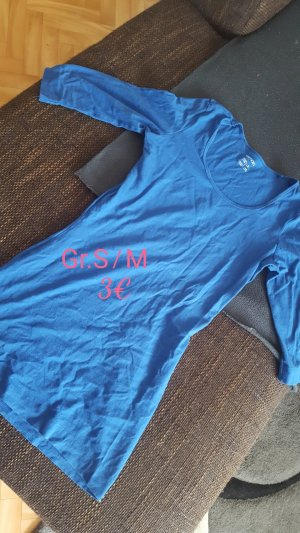 Esmara Camisa larga azul neón-azul acero