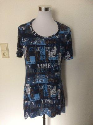blaues Longshirt / Shirt von Canda / C&A - Gr. S