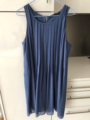 Blaues Luftiges Zara Kleid Plissee - Kate Middleton