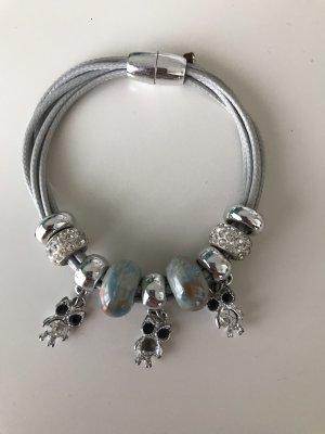 Bracelet light grey-light blue