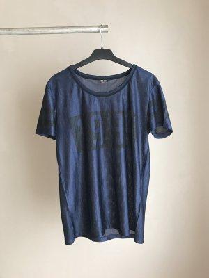 Blaues Mesh Shirt