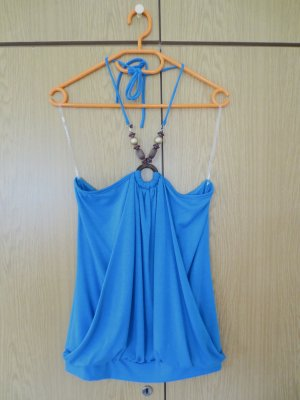 Halter Top blue viscose