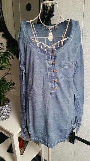 Long Shirt steel blue
