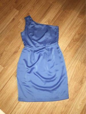 Blaues One-Shoulder-Kleid