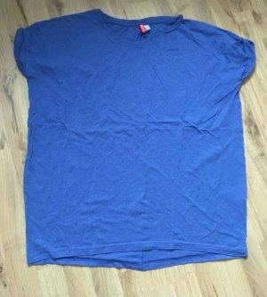 Blaues Oversized- Shirt