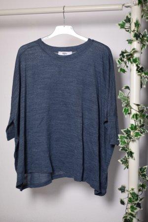 Blaues Overzise Shirt mit 3/4 Arm