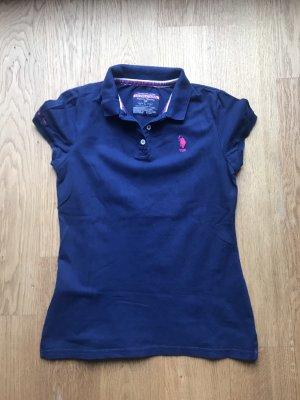 U.s. polo assn. Camiseta tipo polo azul-rosa