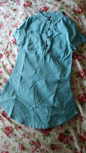 Robe Polo bleu fluo