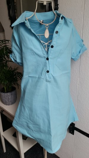 Polo Dress neon blue
