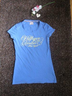 Blaues Printshirt von Hilfiger