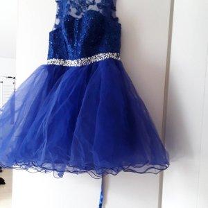 Abito da ballo argento-blu