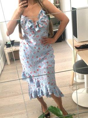 beclaimed vintage Midi-jurk lichtblauw