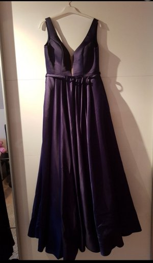 Blaues Satin Ballkleid
