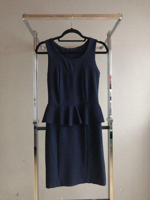 Peplum jurk donkerblauw-blauw