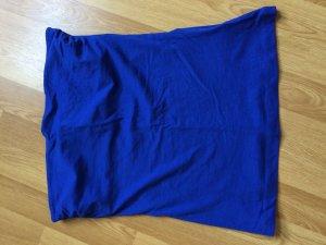 Blaues, schulterfreies Top von H&M