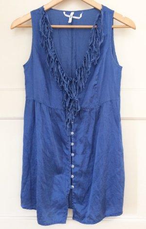 Sophie Top de seda azul aciano