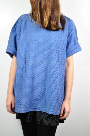 Blaues Shirt Himmelblau Oversized Relief