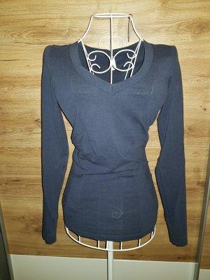 Vero Moda V-Neck Shirt dark blue