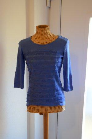 Blaues Shirt mit Raffungen Gr.34
