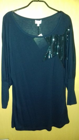 Alba Moda Long Shirt dark blue viscose