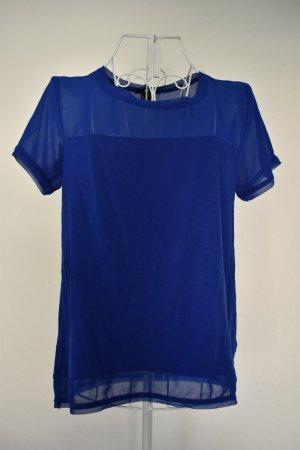 Blaues Shirt mit Transparentem Anteilby H&M