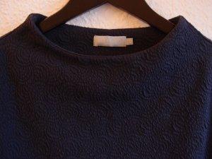 Betty & Co Kraagloze sweater blauw Katoen